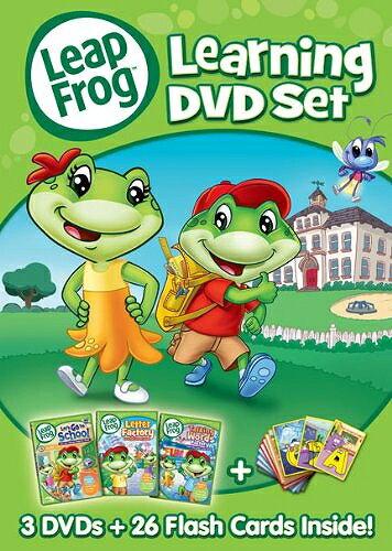リープフロッグ Leap Frog DVD3枚+フラッシュカードセット26枚入り■北米版DVD■Learning DVD set フォニックス入門編としてもお勧めです 知育