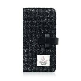 【アウトレット品】SLG Design iPhone 8 ケース/iPhone 7 ケース Harris Tweed Diary ブラック 手帳型 本革 アイフォン カバー【日本正規代理店品】【アクセサリー/アクセサリー】