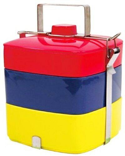 【アウトレット品】Primal Designs お弁当箱 3段 ピクニックスクエアボックス パッケージ付 国旗 コロンブス 3200ml【弁当箱】