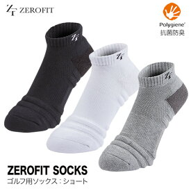 ゼロフィットソックス ショートカット ゴルフ 靴下 メンズ レディース ゆうパケット対応