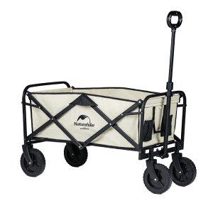 NatureHike キャルリーワゴン 折りたたみ式 4輪 キャリーカート 軽量 アウトドア キャンプ 荷物運搬 カーキ