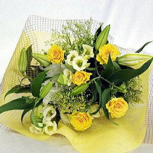 ☆カサブランカとイエローバラの花束☆【父の日】