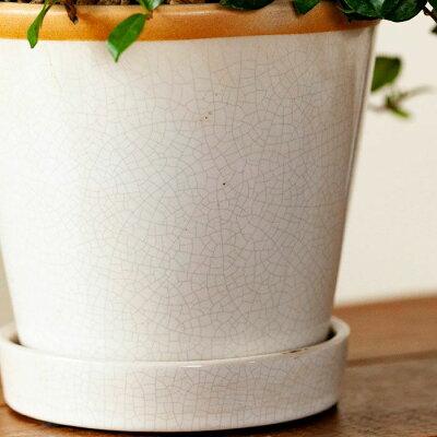 綺麗なツヤ。貫入模様も入っていい感じな植木鉢S(13cm)