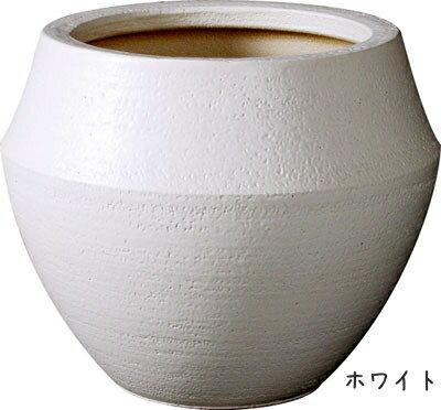 【送料無料(同梱不可)】信楽焼。マットな仕上がりが素敵な植木鉢カバー(8号鉢用)※植物は商品には含まれません。【植木鉢 陶器 黒 白 鉢カバー 大型 陶器】