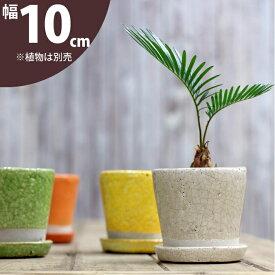 【植木鉢】JUNK風おしゃれツートンカラーの陶器鉢 S