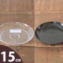 色んな植木鉢と相性バッチリ。透明な受皿(5号)
