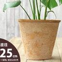 植木鉢 ナチュラル・アンティーク風 テラコッタ植木鉢植木鉢 直径25cm×高さ23cm 植木鉢【モスポット ※植物は別売り】