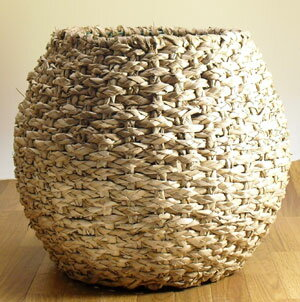 螺旋テイストフラワーベース(鉢カバー)Mサイズ