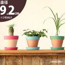 多肉植物やサボテンとか、可愛くなると思います!受皿付きなのが嬉しい!ペイント素焼鉢【3号sizeの植物向け植木鉢】※植物は商品に含まれません。