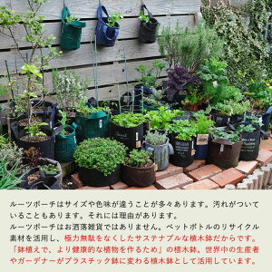 【おしゃれな植木鉢】ルーツポーチ(不織布の植木鉢)(SS1ガロン)【幅15cm×高さ19cm】