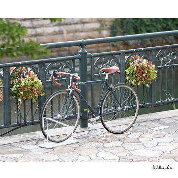 当店オリジナル『スマートエックス自転車スタンド1台用』自転車スタンド屋外おしゃれコンクリートに似合う駐輪場スタンド自転車止め自転車転倒防止アイアン玄関自転車置き場自転車スタンドシンプルホワイト白ディスプレイスタンド店舗