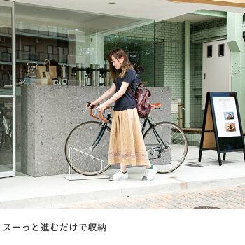 当店オリジナル『SMARTX自転車スタンド1台用』自転車スタンド屋外おしゃれコンクリートに似合う駐輪場スタンド自転車止め自転車転倒防止アイアン玄関自転車置き場自転車スタンドシンプルホワイト白ディスプレイスタンド自転車店舗