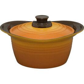 アイリスオーヤマ 無加水鍋 24cm 深型 MKS-P24D オレンジ・レッド・イエロー【KITCHEN CHEF(キッチンシェフ)】【送料無料】 【敬老】