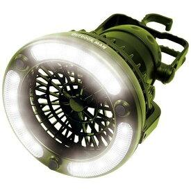 OUTDOOR MAN ライト&ファン KK-00363ライト ファン LED アウトドア BBQ ピーナッツクラブ 【D】