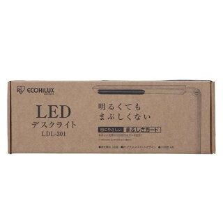 デスクライトledLDL-301送料無料デスクライトledデスクライトおしゃれ学習机目に優しいアイリスオーヤマデスク勉強机子供部屋照明led照明ledランプ照明器具読書灯調光3段階調光明るいホワイトアイリスあす楽対応