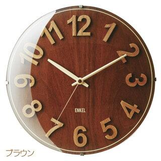 【送料無料】掛け時計OlenオレンCL-9582BNブラウン・NAナチュラル【TC】【掛時計時計掛け時計おしゃれ北欧アンティークかわいいクロック北欧】