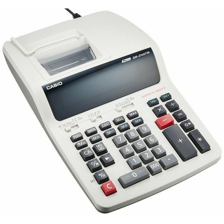 【送料無料】【電卓 14桁】プリンター電卓【プリンタ オフィス 会社】カシオ DR-240TM【D】【HD】