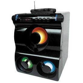 LEDフラッシュスピーカー ブラック HNB-PS3000-BKスピーカー 光る イルミネーション オーディオ 家電 ホノベ電機 【D】