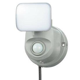 LEDセンサーライト 人感・明暗 コンセント式 1灯 OSE-LS4001灯式 人感センサー搭載 明暗センサー搭載 屋内設置可 屋外設置可 クランプ式設置可能 ライト 外 自動点灯 屋外照明 照明器具 OHM オーム電機 【D】