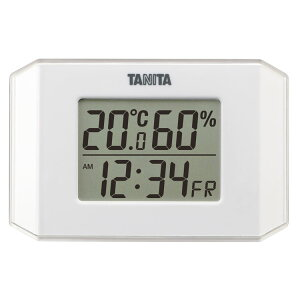 ★20日はP5倍★温度計 湿度計 おしゃれ タニタ デジタル温湿度計 TT-574-WH送料無料 温湿度計 デジタル 時計 時計付 かわいい マグネット デジタル温度計 デジタル湿度計 新生活 一人暮らし キ