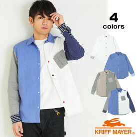 1445c0f8086 ハッピーシャツ(長袖シャツ レギュラーカラー 羽織り)KRIFF MAYERクリフメイヤーメンズ 2019SS