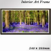 壁掛けアートアートパネル風景画フォトグラファーBartCeuppens写真ワイド額付き花木ベルギー海外自然紫母の日父の日ギフトインテリア雑貨キャンバスジグレー版画