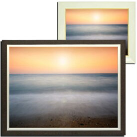 風景画 壁掛け インテリア 浜辺 額付き アートフレーム