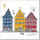 当店限定商品!人気イラストレーターyoridonoによる「houseシリーズ」壁掛けキャンバスアート『どいつ・らへん』【ヨ…