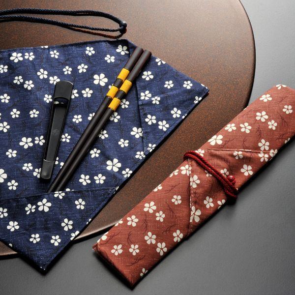【名入れ プレゼント】箸袋&箸先キャップ付 桜