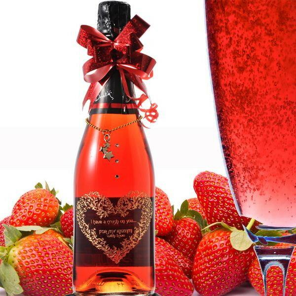 【名入れ専門】【名入れ プレゼント】【 酒 】【 ワイン 】 ドベーラ ヴィーノ エスプモーソ いちご風味のシャンパン