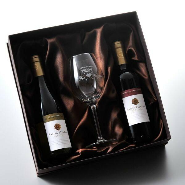 【名入れ専門】【名入れ プレゼント】【 酒 】 お一人様お洒落な欲張りワインセット