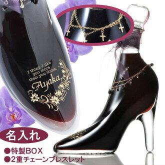 名称礼品放玻璃鞋红黑醋栗利口酒