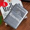 誕生日名入れギフトプレゼントZIPPOライターレギュラーサイズタバコ柄風オイルギフトセット