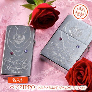 【ZIPPO ライター】【ZIPPO 名入れ】【名入れ プレゼント】ペアZIPPO-あなたと私はずっとつながっています