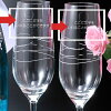 Hold the name, and hold a Tiffany Tiffany champagne glass pair fashion name; a brand tableware two points set 150 ml wedding present celebration present