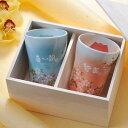 【名入れ専門】【名入れギフト 陶器】有田焼 赤富士&青富士 白生地 フリーカップ ペアセット