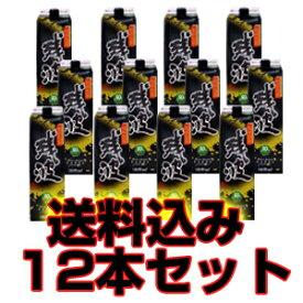 残波ブラック 30度 1800ml 紙パック 12本セット 【泡盛】【送料無料】