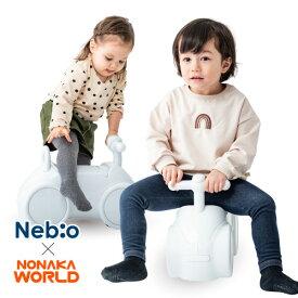 室内乗用 1歳半 4歳 かわいい 白 シンプル キャスター 小回り 乗りもの おもちゃ 遊具 室内 屋内 足けり 車 手押し ベビー キッズ 子供 シンプル NONAKA WORLD まんまるホワイティーノ ネビオ Nebio