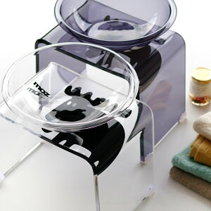 【送料無料】バスチェアセット「moz(モズ)」バスチェア&洗面器(2点セット)【あす楽】【アクリル バスチェア セット 北欧 おしゃれ バスチェアー 風呂椅子 MOZ エルク かわいい 新築祝