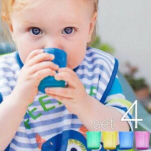 ベビー用コップ「BABYCUP」ファーストカップ(4個入り/マルチカラー)[BC-001]【小さい手 ピッタリ 持ちやすい ベビー 乳幼児 お風呂上がりに 食器洗い機OK 軽い 持ちやすい 歯医者さん推奨 コ