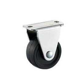 アズワン 小型キャスター(固定型) 25mm ゴム (1個)(KHR-25) 目安在庫=○【10P03Dec16】