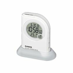 カシオ計算機 LEDライト付き 電波置時計デジタル ホワイト DQD-410J-7JF メーカー在庫品【10P03Dec16】