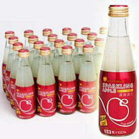 お祝い パーティーに最適!青森リンゴ使用 ノンアルコール スパークリングアップルジュース マイルド 瓶 200ml×24本(03930181) 目安在庫=○【10P03Dec16】