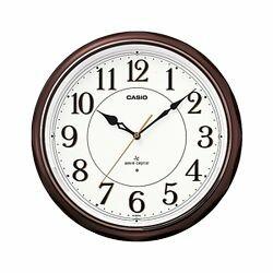 カシオ計算機 電波掛け時計アナログ 濃茶 IQ-1051NJ-5JF メーカー在庫品【10P03Dec16】