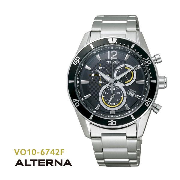 シチズン CITIZEN オルタナ ALTERNA エコドライブ クロノグラフ VO10-6742F 腕時計
