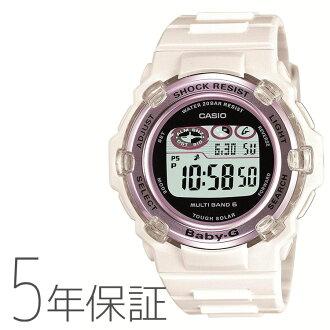 Five years guarantee Casio CASIO BABY-G baby G electric wave solar radio time signal Lady's BGR-3003-7BJF