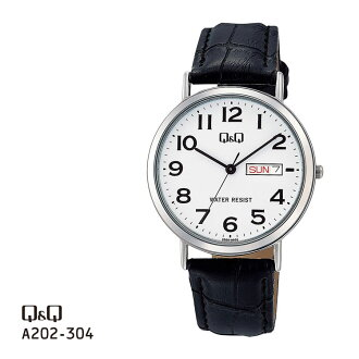 chipushichizummenzu Q&Q星期日期手錶模擬A202-304一對型號| 居民西鐵城星期、日期從屬于的球桿&球桿球桿球桿球桿和球桿防水國內正規的物品