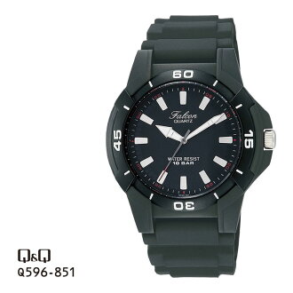 Citizen Q&Q falcon Falcon analog 10 standard atmosphere waterproofing watch men Q596-851 チプシチ