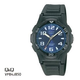 シチズン Q&Q ファルコン アナログ 10気圧防水 腕時計 メンズ VP84J850 チプシチ | 名入れ キューキュー キューアンドキュー 黒 ブラック