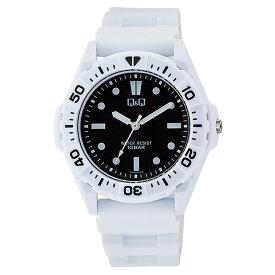 シチズン CITIZEN Q&Q スポーツ アナログ チプシチ 10気圧防水 黒 ブラック 白 ホワイト VS30-002 腕時計